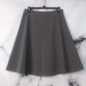 Covington Petite Stretch Pinstriped Lined Skirt 4P